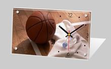 Promotion unique gift basketball souvenir desk clock