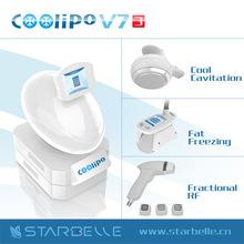 2015 Coolipo V7 III Body Shaping RF Face and body Tighten fashionable cavitation cryo rf slimming machine