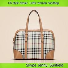 uk style hobo bag fashion shoulder bag classic lattic woman handbag brand