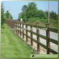 3 trilho de madeira da grão brown cor pvc cerca de cavalo( kja- 02- marrom)