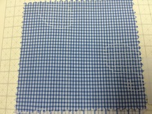 Blithe Blue Mini Check with Eggplant Cross Stitches Pattern Fabric
