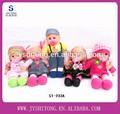12 nails menina bonecas de pano com vinil boneca de cabeça e as mãos, vinil bonecas de pano com quatro sons