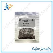 1.25mm round coffee color cz semi-precious stone beads