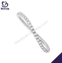 Transparent cubic zircon arab men ring 925 sterling silver rings