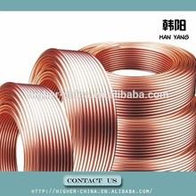 refrigerant copper pipe 15m , finned copper pipe 6.35*0.71mm , copper tube6.35*0.71mm for sale