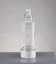 Bacardi rum glass material custom carton packaging glass bottle