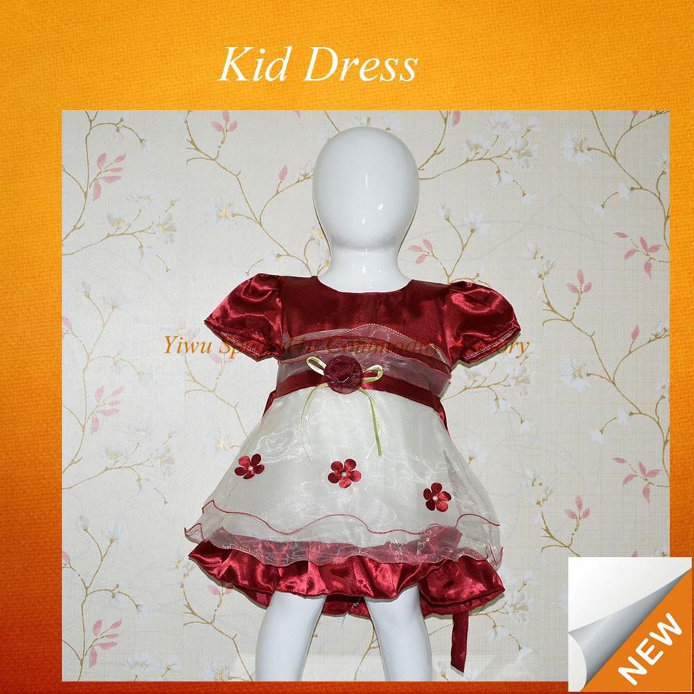 Baby girl abito da sposa/baby girl compleanno abiti/1-6 anni abito bambina sfubd- 534