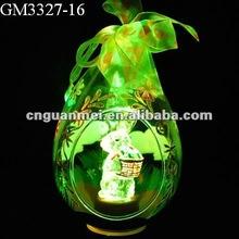 Wholesale glass easter egg with led light,easter gift