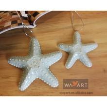 Decorative Nautical Blue Ceramic Small Starfish Ornaments