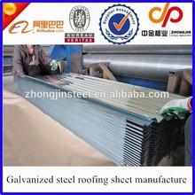 Prix d'usine acier carreaux de mur, Tôle de toiture en acier galvanisé under plate