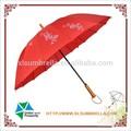 red pongé avec sérigraphie 16 côtes parapluie droite