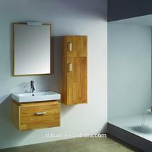 Jisheng rustic feels beech wood plate top desing bathroom cabinet_custom made bathroom furniture