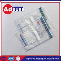 Plastic Tamper Proof Envelope/Tamper Resistant Seal/Plastic Clear Security Bank Bags