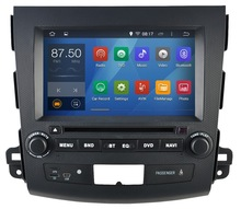 Android 4.4 Car DVD for Mitsubishi Outlander PEUGEOT 4007V Citroen C-Crosser with dual Core CPU:1.6G RAM:1G 3G GPS Stereo Audio