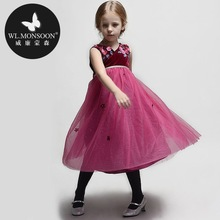 Girls summer dress princess dress children in Europe and America 2014 national veil sling princess dress girls skirts