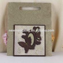 Best quality branded wedding wooden/velvet invitation card