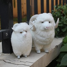 handmade plastic sheep outdoor garden ornaments
