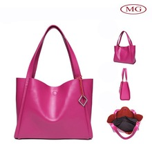 wholesale from china supplier perfect handmade women shoulder smooth leather bag in 3 colors
