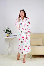 printed coral fleece bathrobes for sexy women