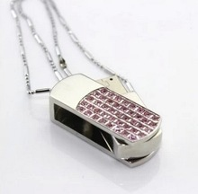 U disk 8 g all over the sky star crystal personality 16 g usb girl U disk rotating jewelry fat little 32 gb usb flash drive