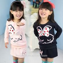 Tz1011 wholesale fashion children Spring child clothes kids clothing girls Korean latest skirt suits