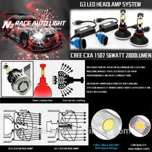 LIFETIME warranty 56W 50000h skoda octavia led headlight, car h4 led headlight bulbs
