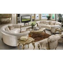 De alta qualidade novo mobiliário clássico sala de estar em forma de l sofá