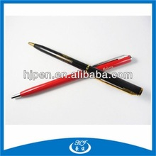 Silm metal ball pen with cross pen refill fot the hotel promotion