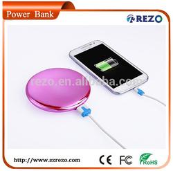7000mAh Special Design make-up mirror power bank for women/ladies/girls