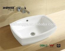 above counter square ceramic basins bathroom
