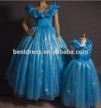 2015 Newest Sandy Princess Cinderella Women Blue Dress Cosplay Costume Adult