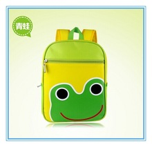 The frog backpack for kindergarten little kid backpack with beautiful printing