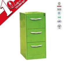 Powder coating knock down light green metal filing cabinet