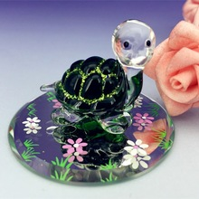 hand blown glass turtle animal figurines gifts for kids