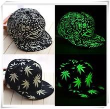 2015 Wholesale custom design flat brim party hat glow in the dark hat