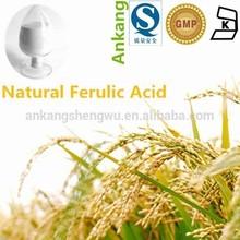 natural rice bran extract ferulic acid CAS : 1135-24-6 ferulic acid powder 99%, China factory price