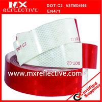 Diamond grade Primatic DOT-C2 certification white/Red reflective tape,