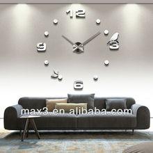 Newest High Quality Antique Large Metal Art Wall Clock,Antique Fashion Creative Acrylic DIY 3D Mirror Wall Clock