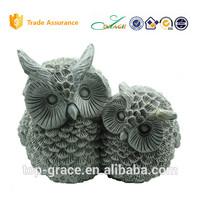 big and samll owl garden animal ornament resin owl sculpture craft