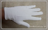 Wholesales cheap disposable white thin cotton gloves