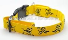 Custo Circle Printing Logo Led Pet Dog Collar