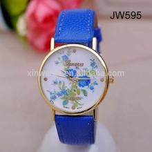 Geneva Platinum Flower Watch Ladies and Girls Floral Watches movement miyota
