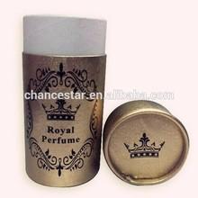 Custom printed gold cardboard paper perfume tube