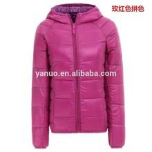latest dress designs Women's Clothing winter jacket folding with hood, puffer jacket women