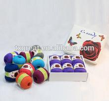 Hand knitting super soft mercerized merino wool yarn