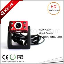 4 LED Light PC Micro USB Webcam Camera Definition With Plug & Play