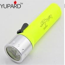 Hot Yellow Pro Waterproof Underwater Diving Dive Waterproof Q5 LED Flashlight Torch Lamp yellow light