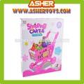 juguetes de plástico de las frutas y hortalizas con rosa y azul de la compra del coche