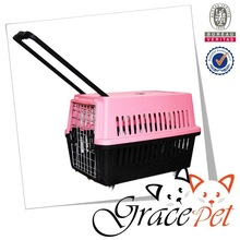 2015 New pet product large dog transportation crate carrier on wheels