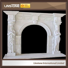 top grade marble wall mounted electric fireplace heater